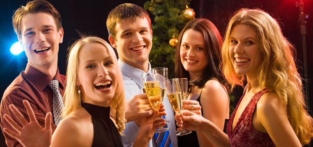 Christmas drinks with friends